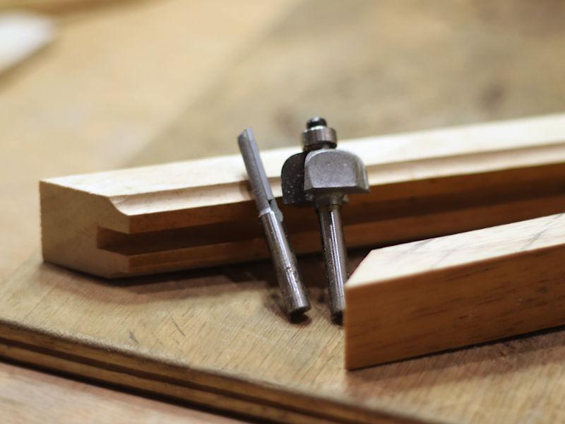 木製フレームの切り出し