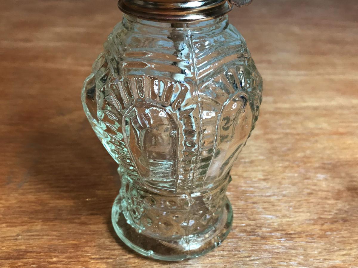 綺麗に洗浄したガラス面|オイルランプ・豆ランプのリペア修理