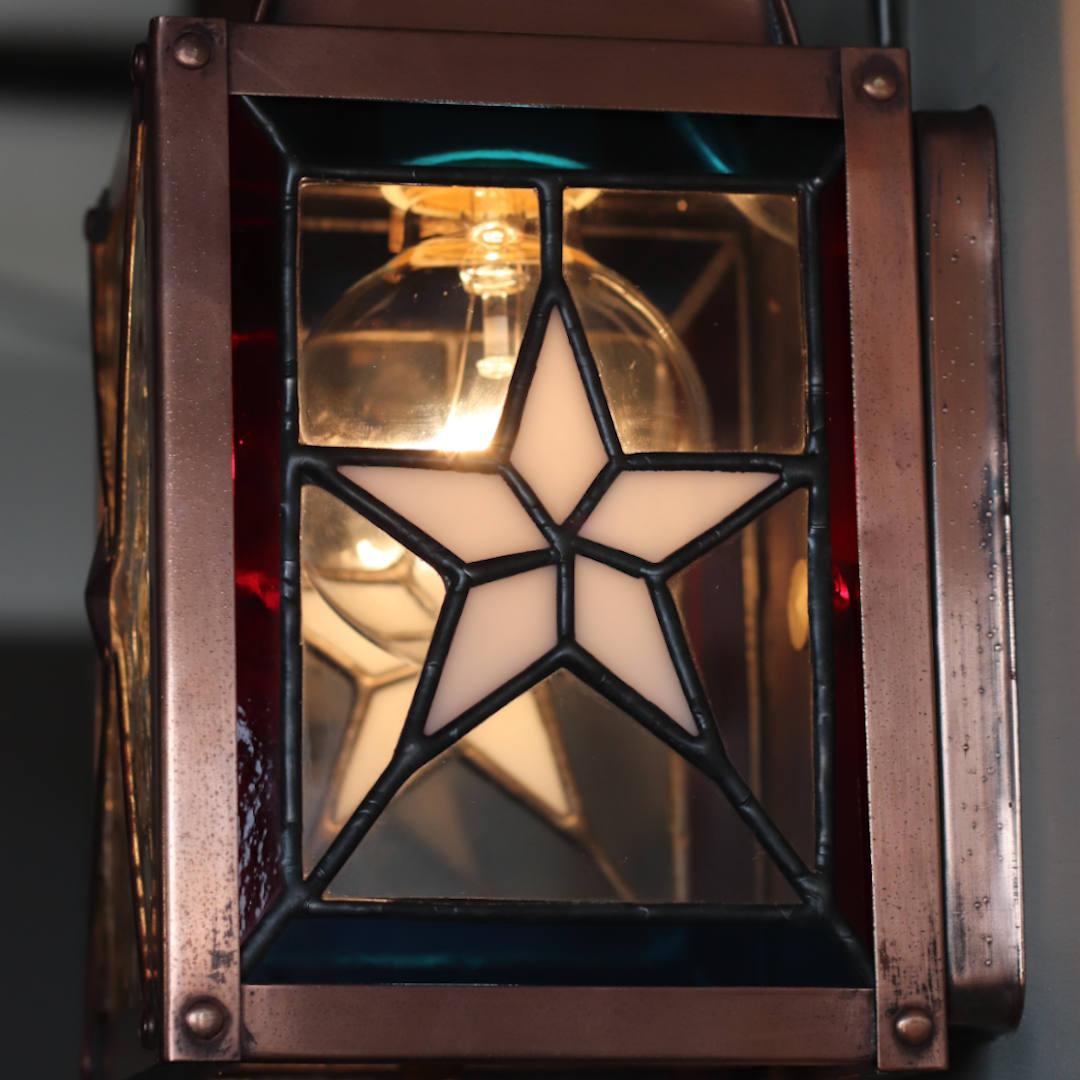 星条旗をイメージしたステンドグラス ランタンブラケットライト照明