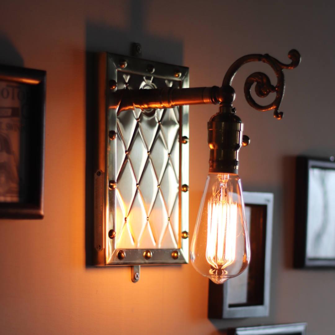 アートデザインランプ・ブラケットライト壁掛け照明 アンティーク&スチームパンクメタルワーク