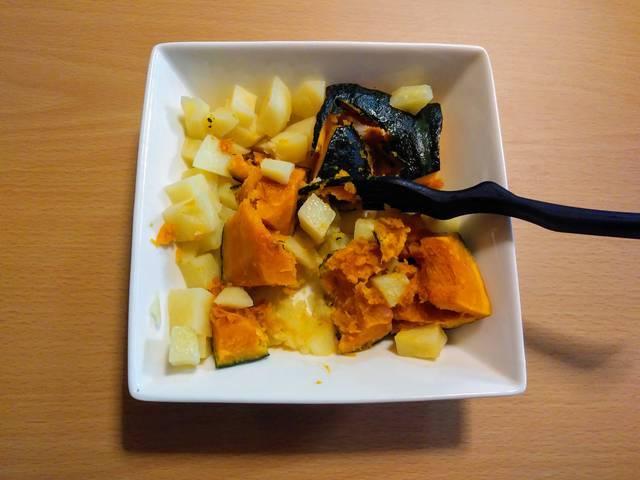 潰した野菜