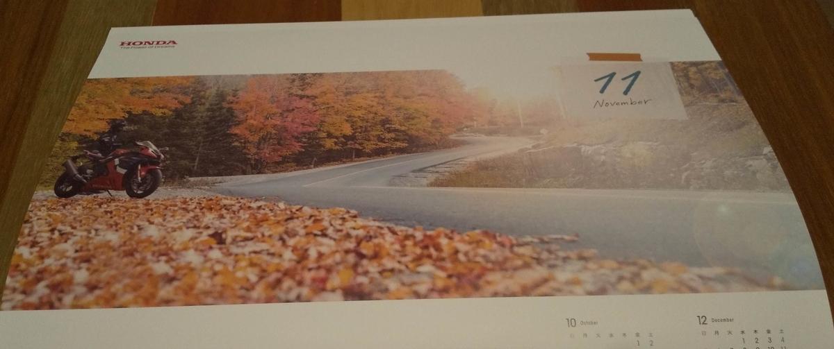 紅葉の中の道