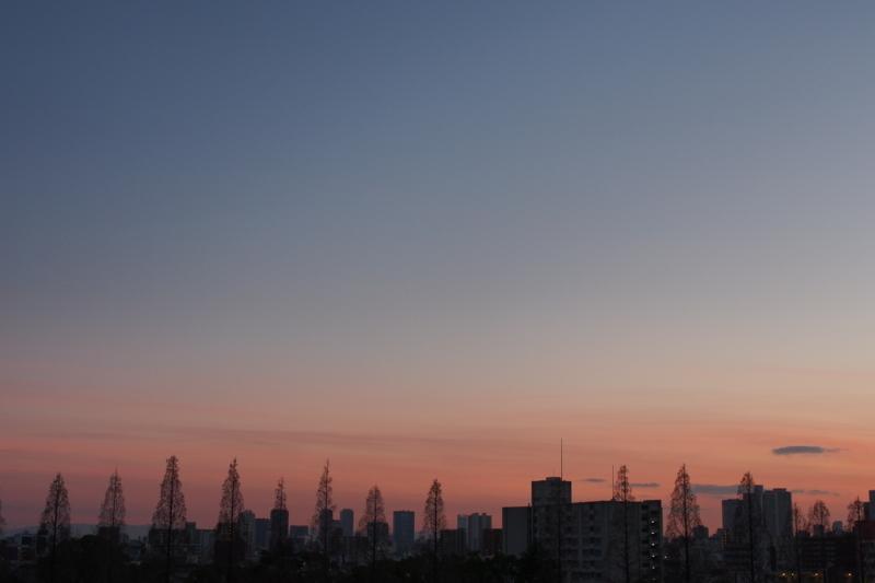 [写真][空][夕焼け]