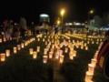 2016年10月9日-灯りまつり,尾道駅前の様子