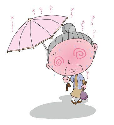 熱中症対策に日傘の活用
