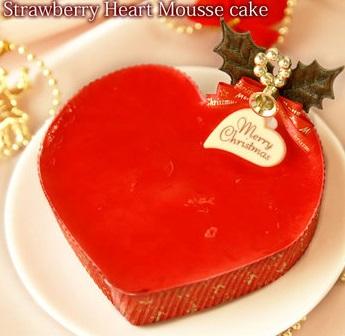 StrawberryHeartMousseCake