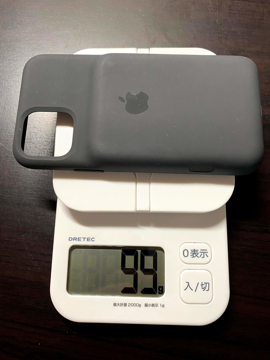 「Smart Battery Case」の重さを測った