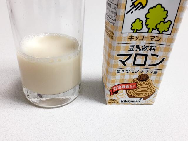 豆乳 マロン