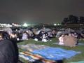 [東京][調布][多摩川][調布市花火大会] 2008年 調布市花火大会 開会直前 集まる人々