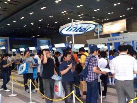 インテルがアキバでイベント中 #akihabara #tokyo #intel
