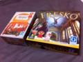 [ボードゲーム][フレスコ][アルハンブラ][箱]アルハンブラとフレスコの箱比較