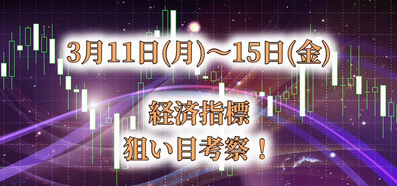 3月3週目の経済指標