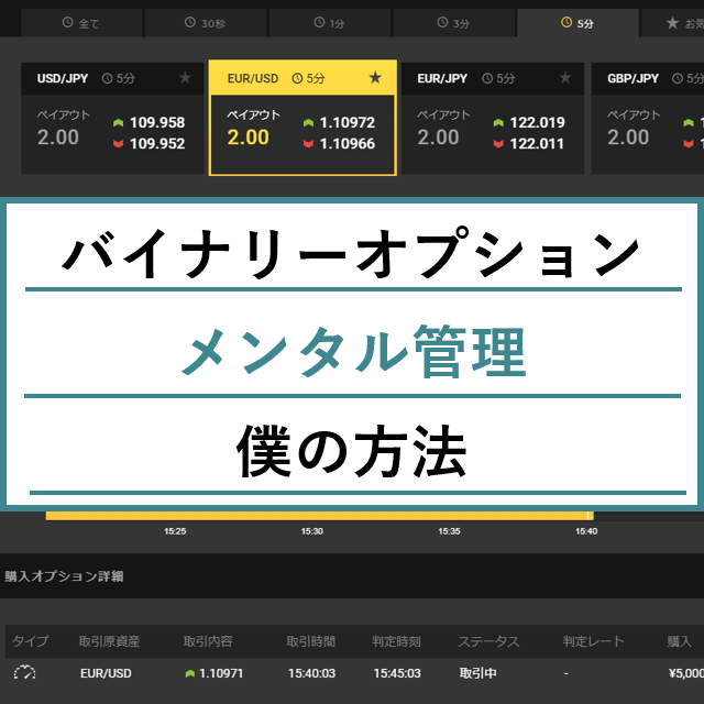 毎月3万円で実践したバイナリーオプションのメンタル管理法