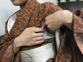 授乳後の着物の直し方