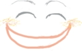 [指で描いてみた。][イラスト][破顔一笑]やあ、こんにちは。