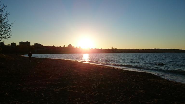 ビーチ夕陽