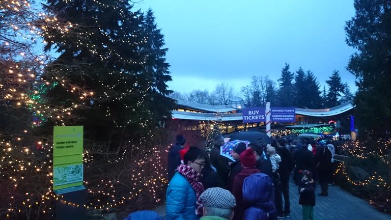バンデューセン植物園の列