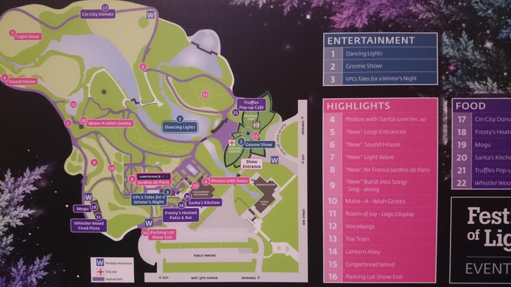 バンデューセン植物園マップ