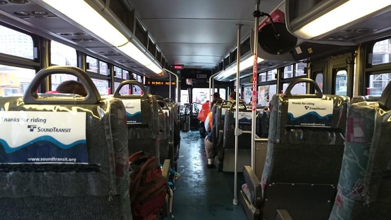 シアトルバス車内