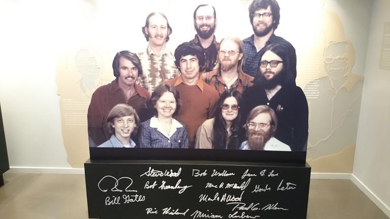 マイクロソフトの創業メンバーの写真