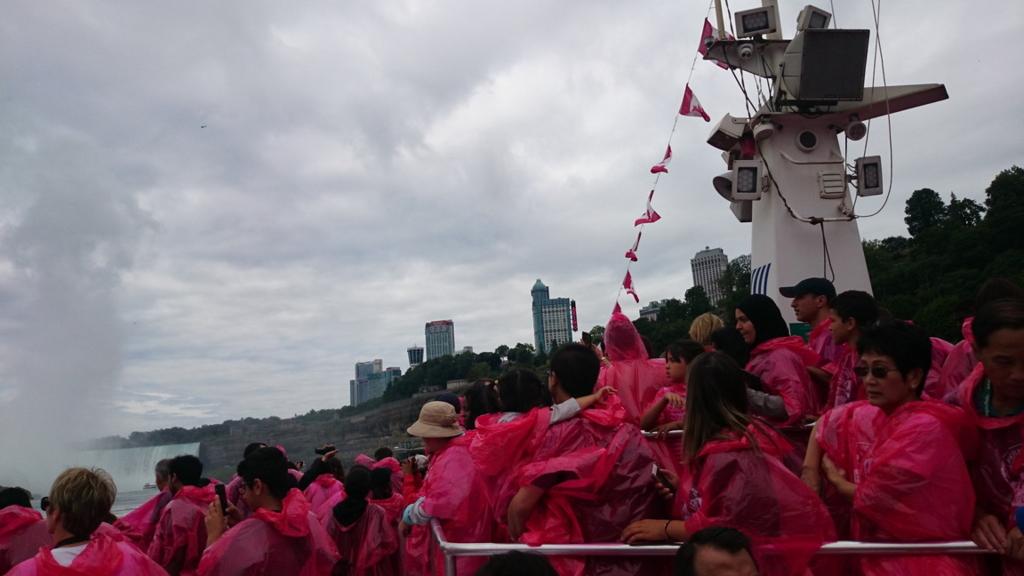 乗船直後の写真