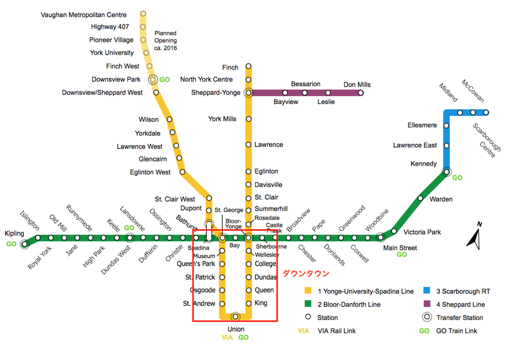 トロント地下鉄地図