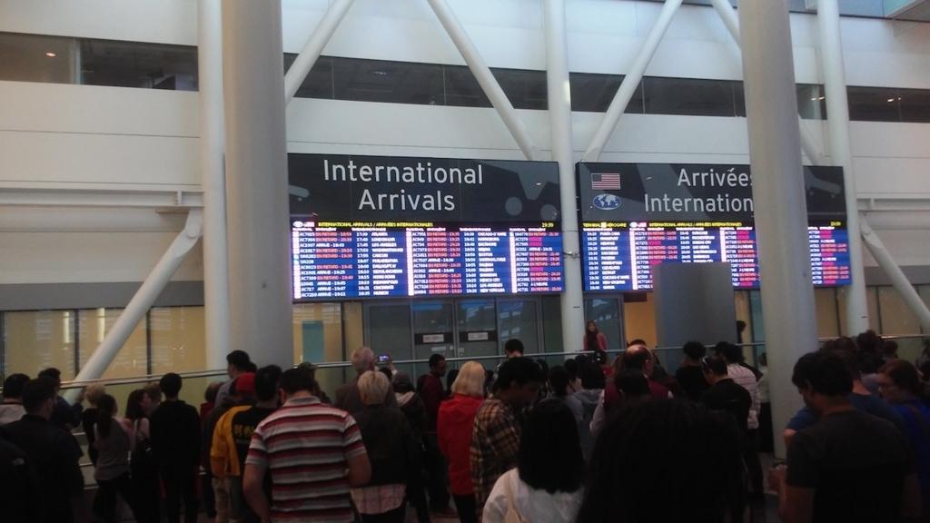 国際線の到着口
