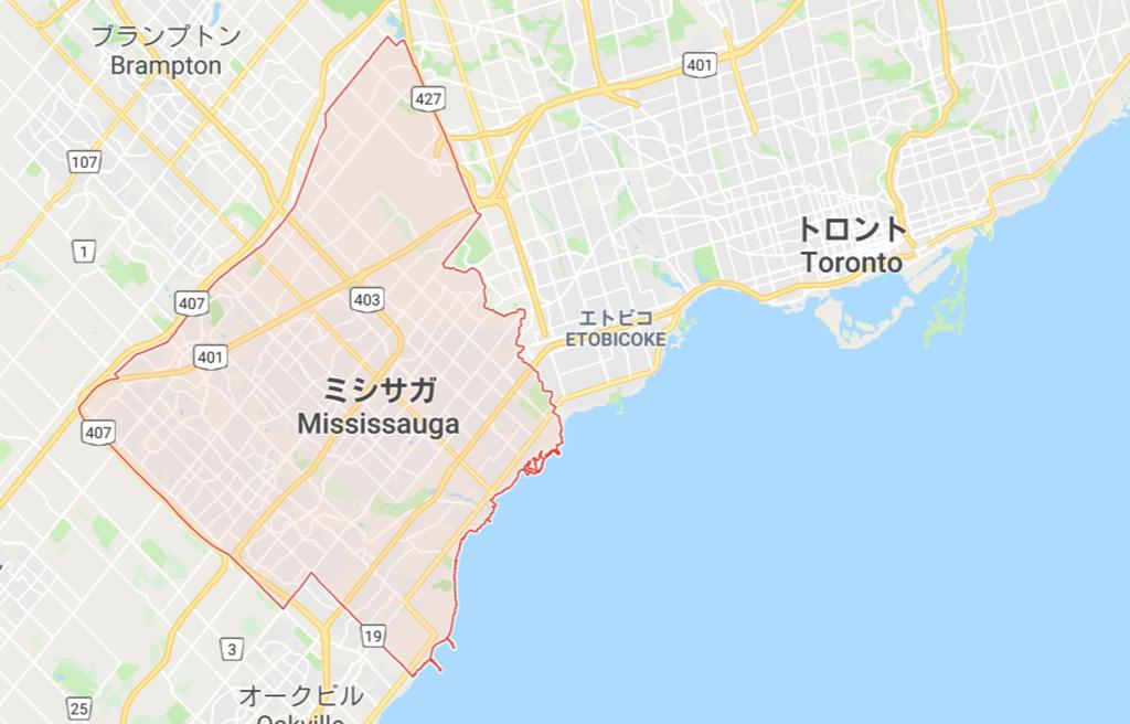 ミシサガ地図