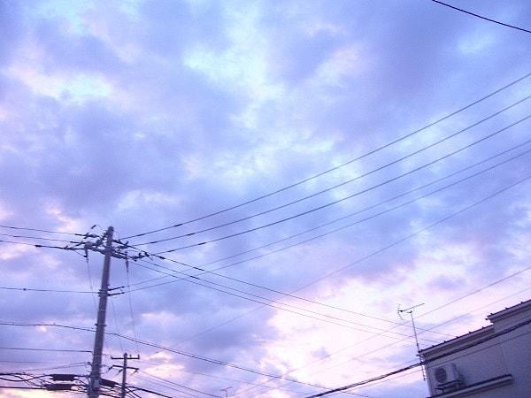 夢かわいい早朝の空