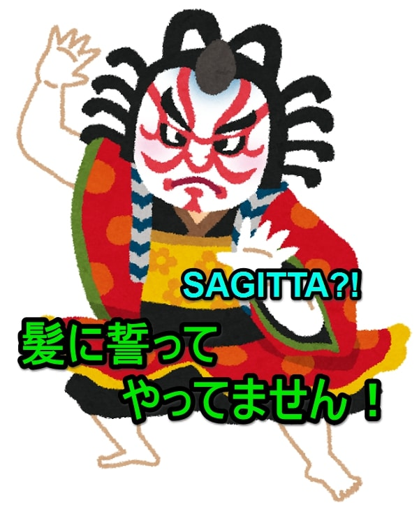 見得を切る歌舞伎役者