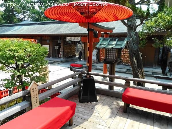 白山神社の休憩所