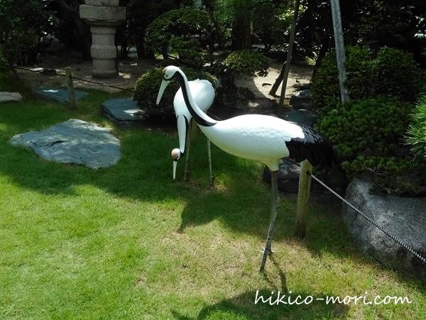鶴のオブジェ