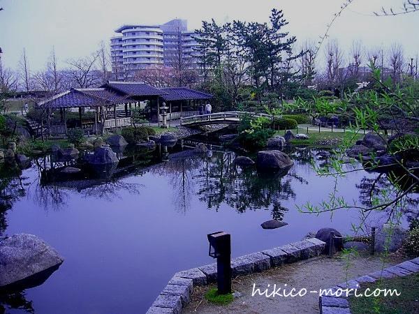 鳥屋野潟公園の日本庭園