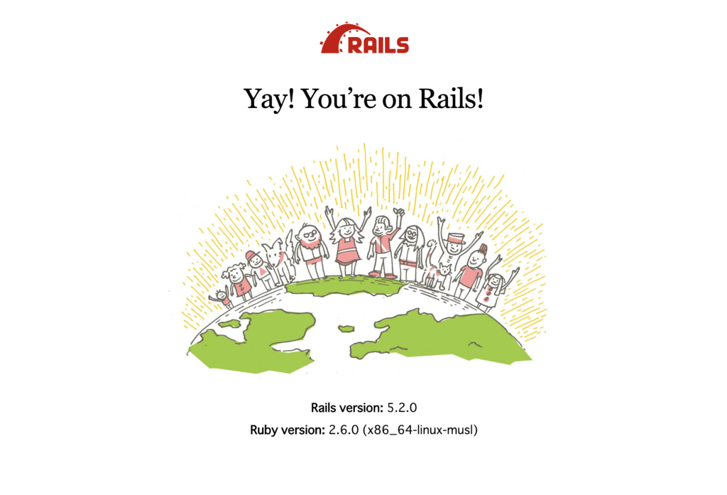 Yay! You're on Rails