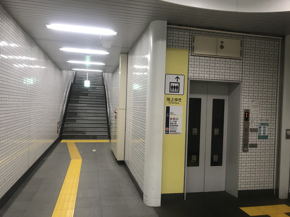エレベーターに乗る?