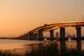 京都新聞写真コンテスト輝く琵琶湖大橋