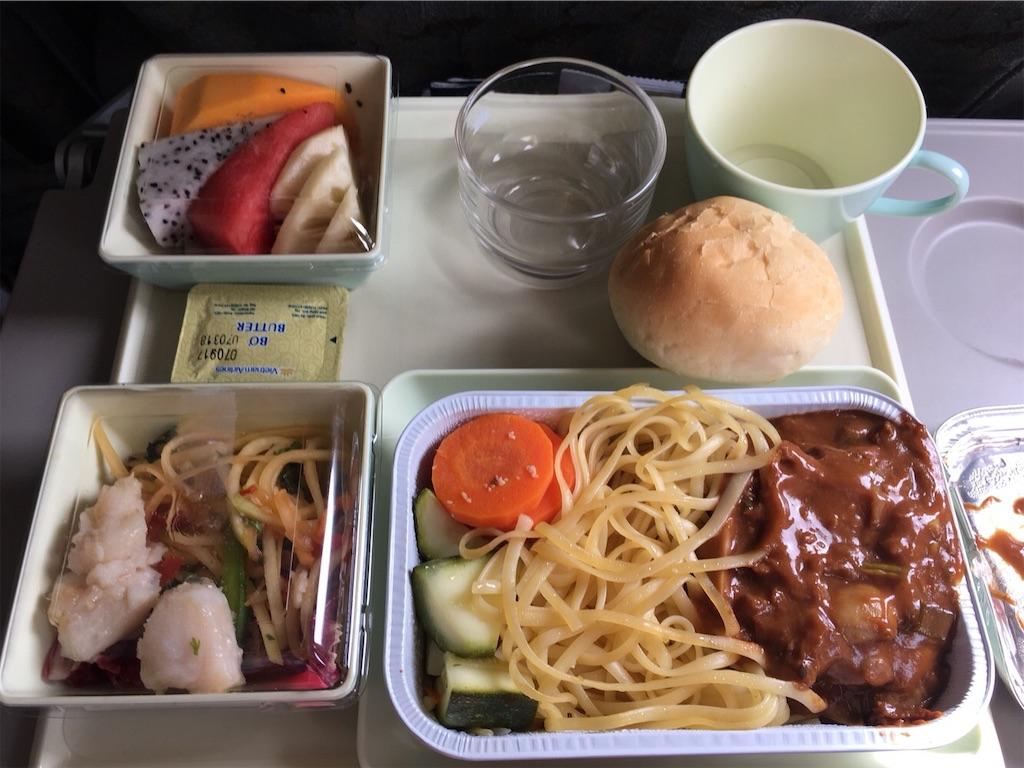 ベトナム航空の機内食