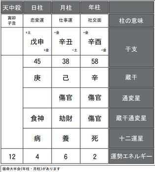 嵐・櫻井翔さんの四柱推命鑑定書