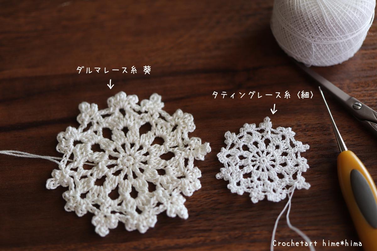 ダルマレース糸葵とタティングレース糸〈細〉のドイリー