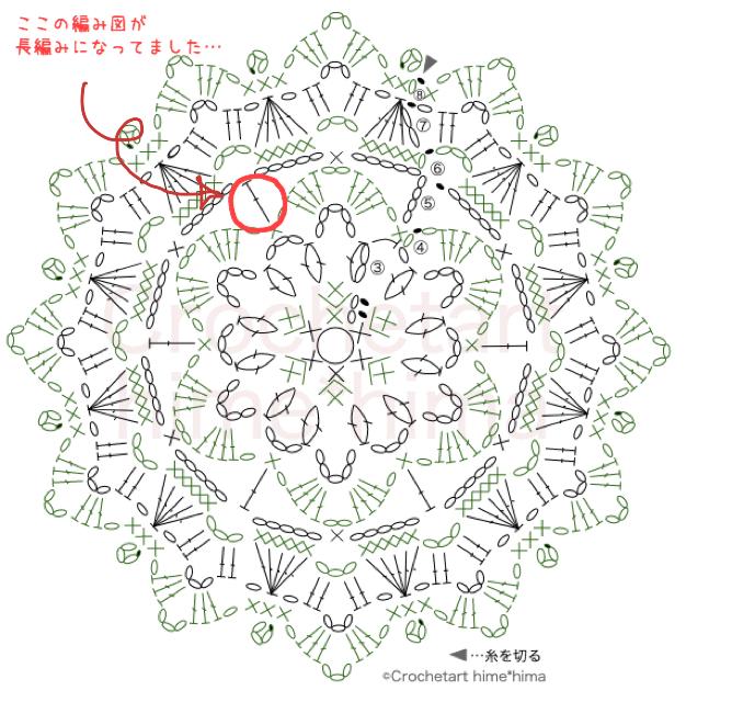 #100ドイリー 89枚目の間違った編み図