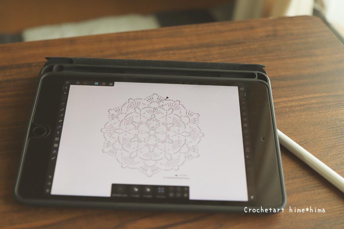 Affinity Designerで描いた編み図