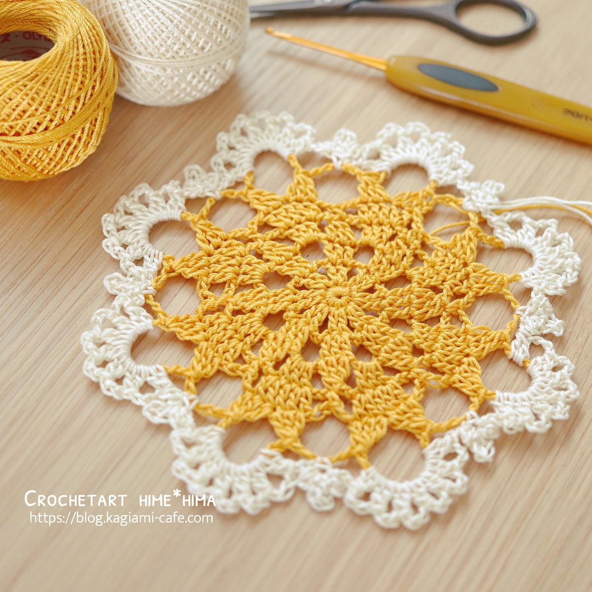 オリムパス製絲タティングレース糸〈太〉で編むドイリー