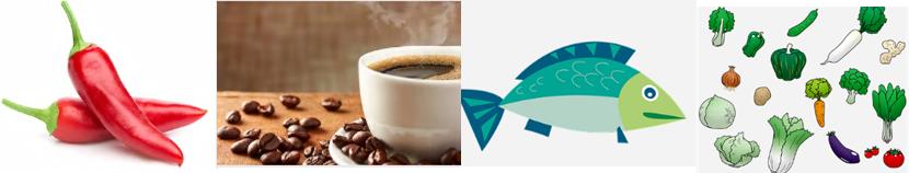 痩せる食品カプサイシンとカフェインと食物繊維