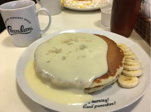 沖縄のパンケーキ屋さん パニラニのパンケーキの写真