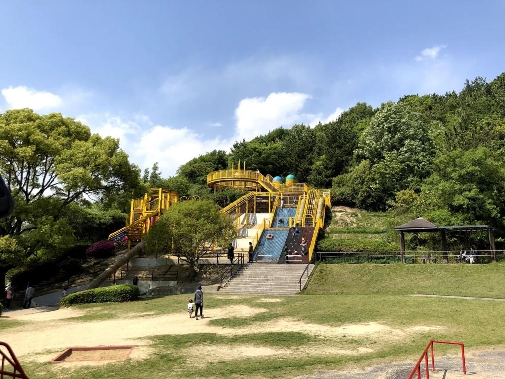 岡山県倉敷市中山公園要塞遊具