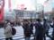 渋谷スクランブル交差点を堂々行進するデモ隊