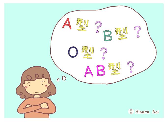 f:id:hinataaoi: Blood type diagnosis