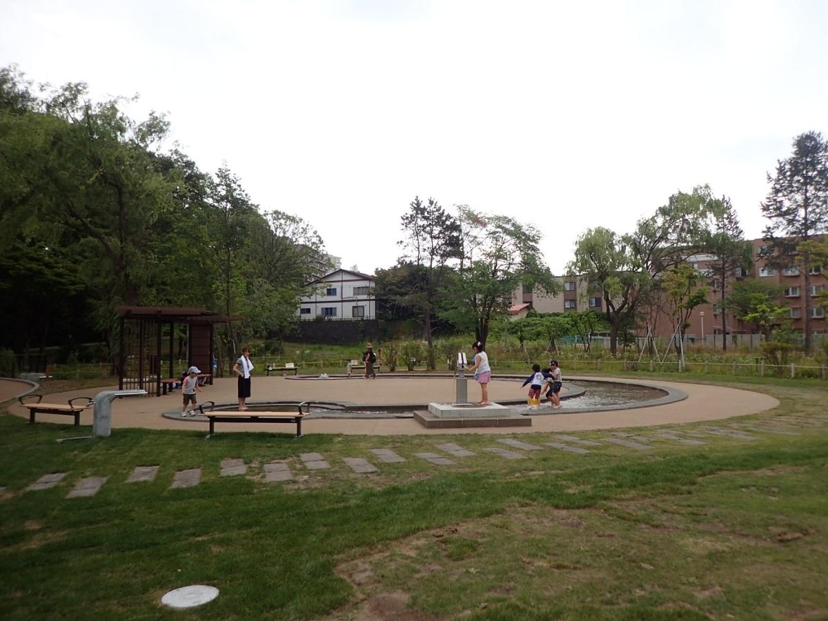 月寒公園 水遊び