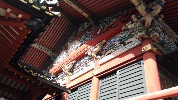 大拝殿の妻壁