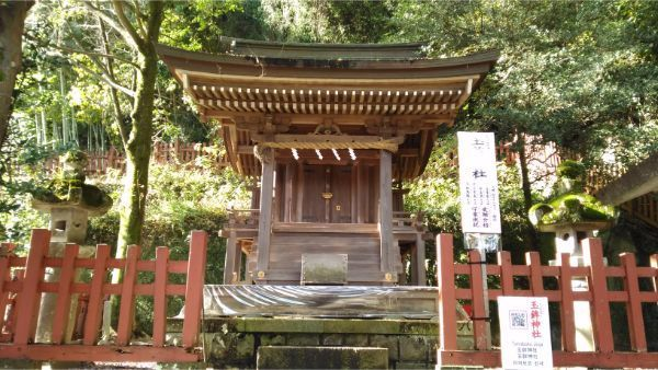 玉鉾神社の正面図